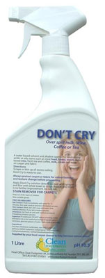 Don't Cry carpet cleaner cleaning
